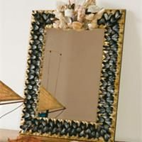 miroir en coquillages bricolage pinterest deco. Black Bedroom Furniture Sets. Home Design Ideas