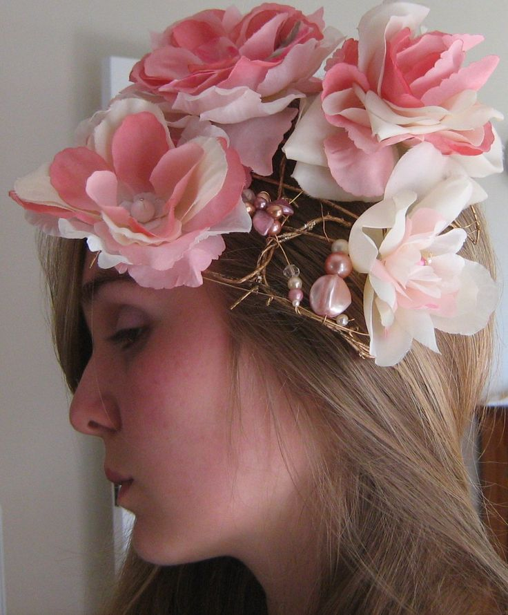 Crazy rose headpiece by https://www.pinterest.com/jacqbrill/beloved-vintage-bridal-by-jacq-brill/