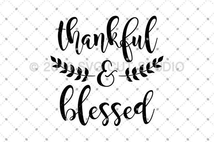 Thankful And Blessed Svg Cut Files Halloween Fall Svg