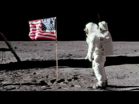 Excellent Apollo 11 footage of first man on the moon. The video was posted by NasaGoddard and is 2 minutes long. CC Cycle 2 Week 12 Science Gammar   US Space Missions