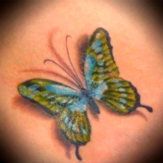 3-D Butterfly tattoo