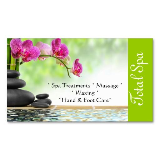 303 best spa business card templates images on pinterest massage spa massage salon business card green cheaphphosting Image collections