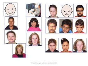 Autismus Arbeitsmaterial: Traurigkeit beschreiben: Mimik und Gestik