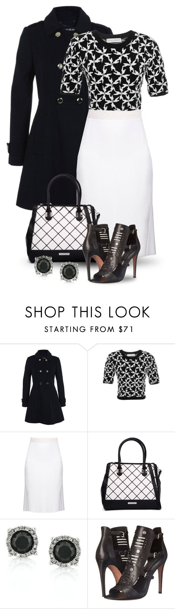 """Style It in Black & White!"" by boxthoughts ❤ liked on Polyvore featuring Miss Selfridge, Tanya Taylor, Victor Xenia, Kardashian Kollection, Mark Broumand, Rebecca Minkoff, women's clothing, women, female and woman"
