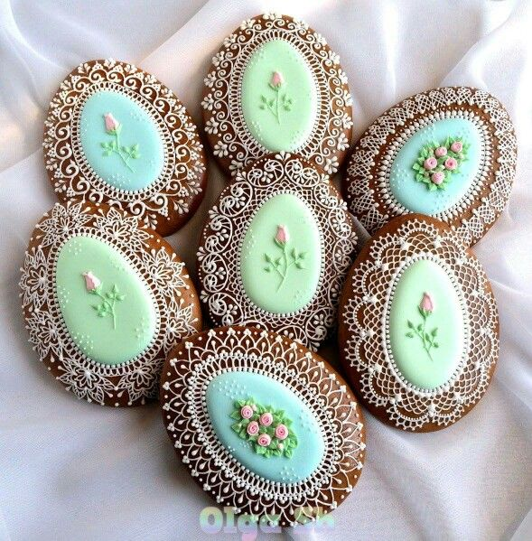 Cute Easter Egg Floral cookies