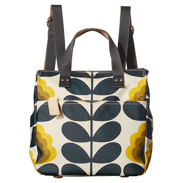 BuyOrla Kiely Summer Flower Canvas Backpack, Sunshine Online at johnlewis.com