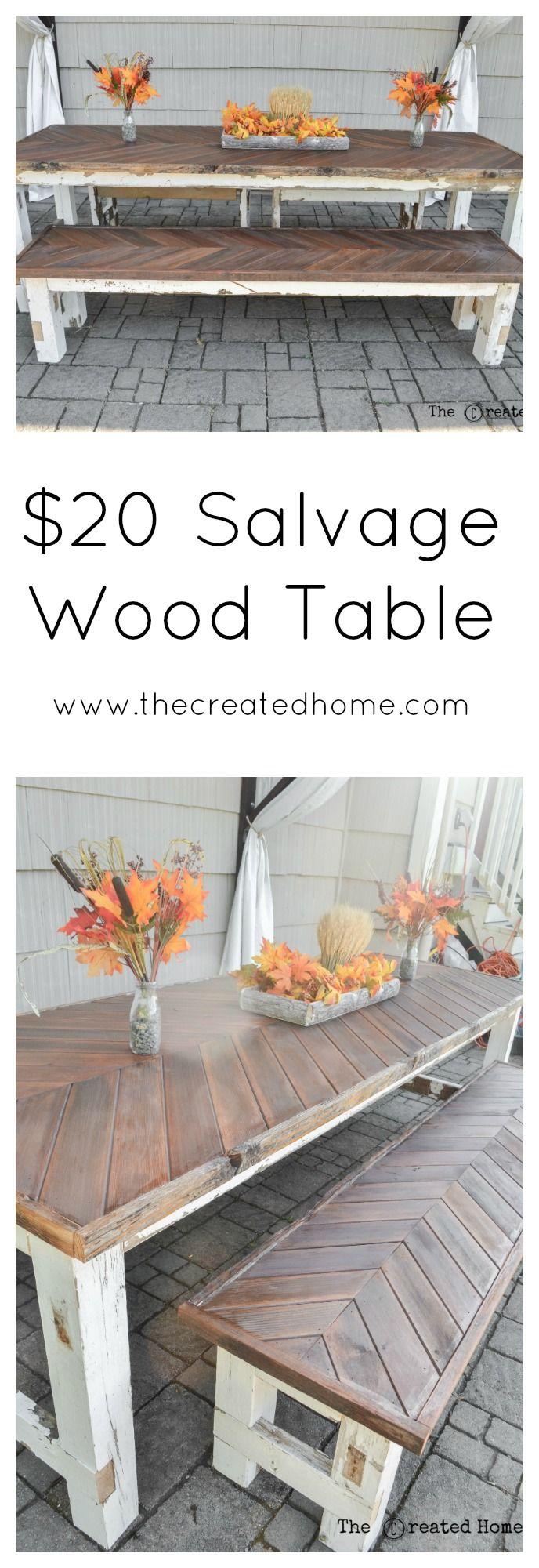 $20 Salvage Wood Table