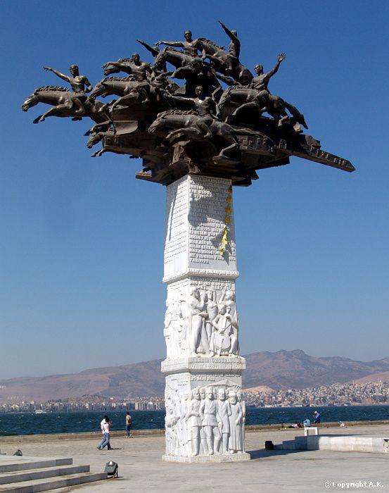 "Mustafa Kemal Pacha (Atatürk) - Monument in honor of Mustafa Atatürk - I believe considered the ""father"" of modern Turkey."