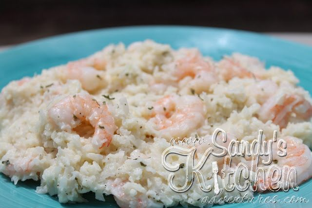"""Quick and Easy Mock Shrimp """"Risotto"""" recipe using The Laughing Cow Light Garlic & Herb"""