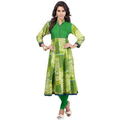 Indianfashionlady  Anarkali Festive 3/4 Sleeve Self Design Kurti Kurtas and Kurtis For Women on http://Shimply.com