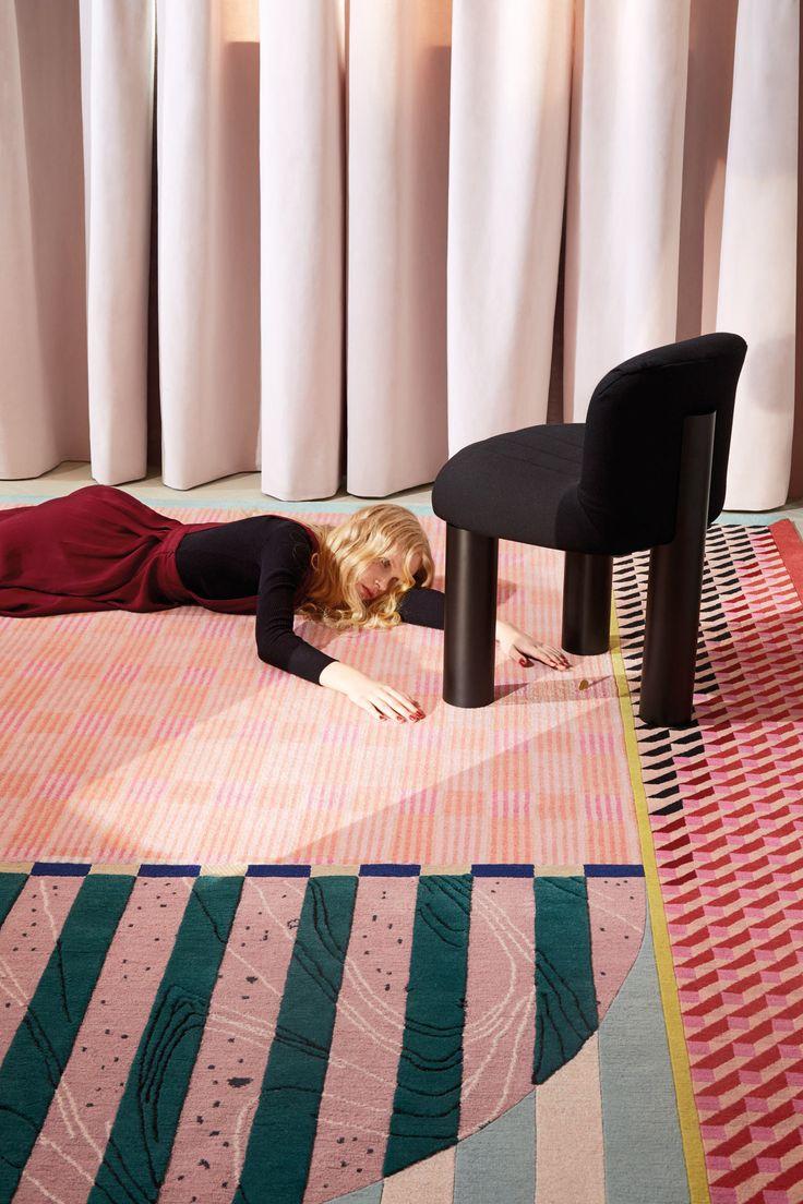Alex Proba rug for CC Tapis. Photo by Lorenzo Gironi. Art Direction by Motel409 and Studio Milo.