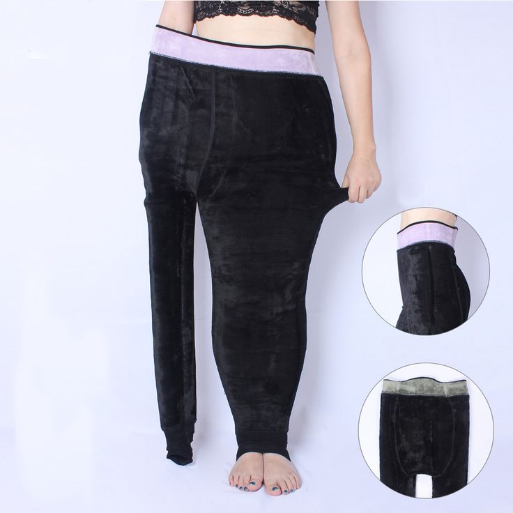Winter Women's Thick Black Legging Large size Plus XXXL Super Elastic Soft Women All-match Health Pants Warm Health Pants Gifts