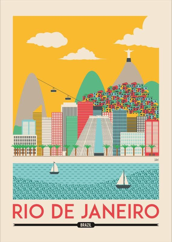 Rio Print Rio De Janeiro Poster Rio Wall Art Print Etsy In 2020 Travel Posters Travel Prints Vintage Travel Posters