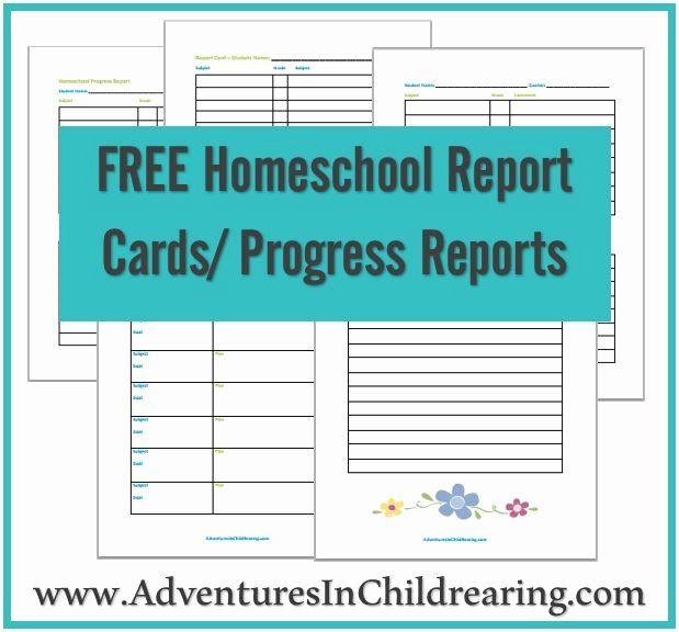 Grade Progress Report Template Inspirational Free Homeschool Printable Progress Report And Report Card School Report Card Report Card Template Free Homeschool