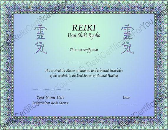 Free printable reiki certificates acurnamedia free printable reiki certificates yelopaper Images