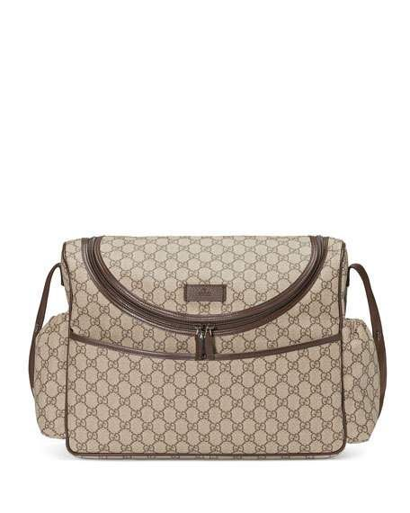 cec0cac1c Basic GG Supreme Canvas Diaper Bag, Beige by Gucci at Neiman Marcus