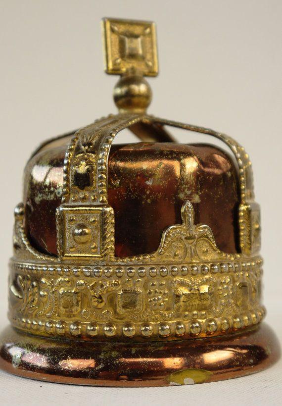 King George VI Coronation Crown Money Box 1937   Just ...