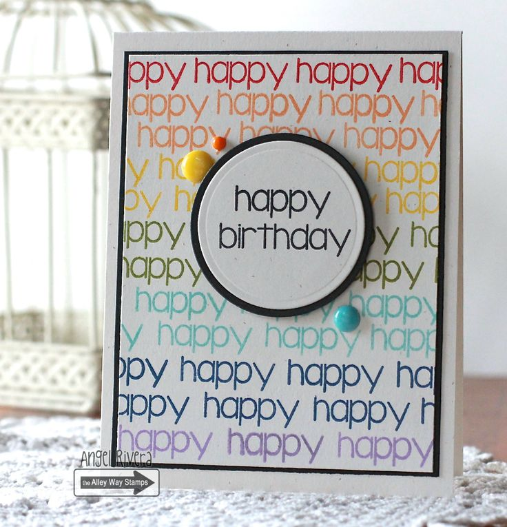 TAWS, TAWSDT, The Alley Way Stamps, Yappy, happy birthday, rainbow