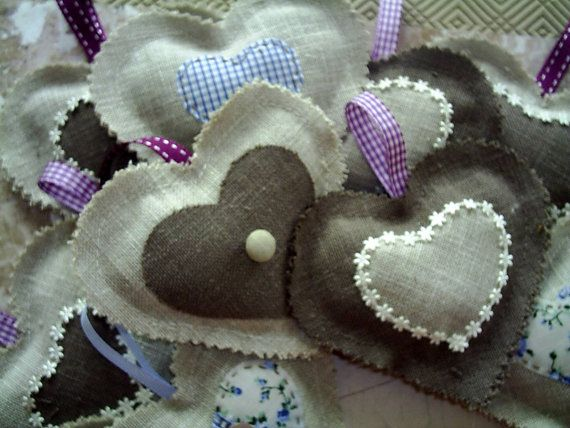 ... linen french lavender hearts.Scented lavender by fraline, €6.75