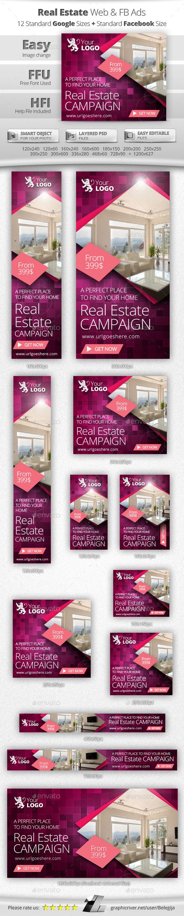 Real Estate Web Banners - Banners & Ads Web Elements