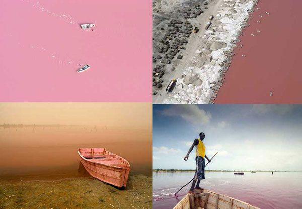 Retba Lake in Senegal