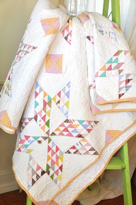 Vintage star quilt, flea market find, spotted at Fig Tree Quilts: