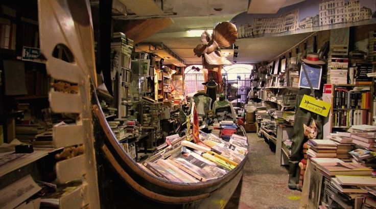 Venice's Libraria Acqua Alta bookstore | Novelty stores: 5 weird bookshops every book lover will adore