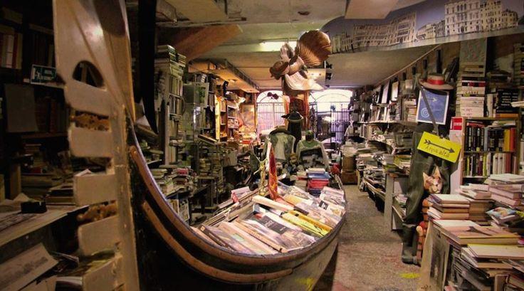 Venice's Libraria Acqua Alta bookstore | Novelty stores: 5 weird bookshops every book lover will adore