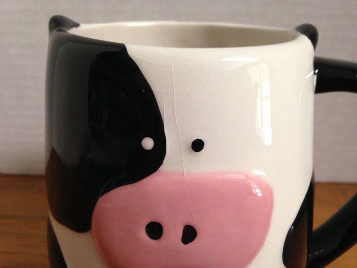 3-d Cow Coffee Mug Cup By Tag 16oz