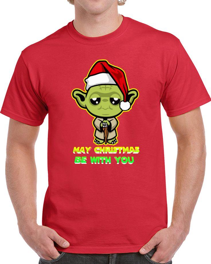 May Christmas Be With You Star Wars Yoda   T Shirt