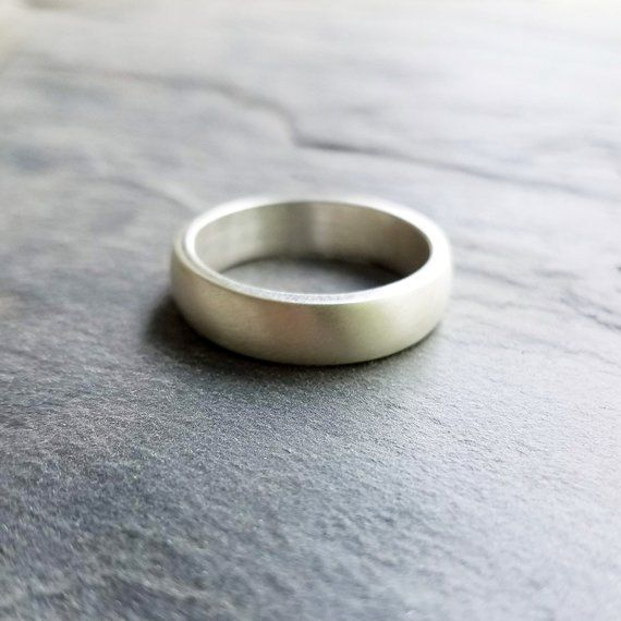 6mm Wide Heavy Sterling Silver Wedding Band High Dome Wedding Etsy Sterling Silver Wedding Band Silver Wedding Silver
