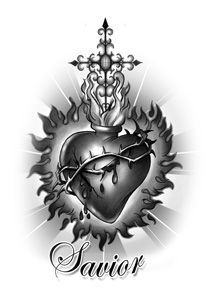 sacred heart tattoo images - Google Search
