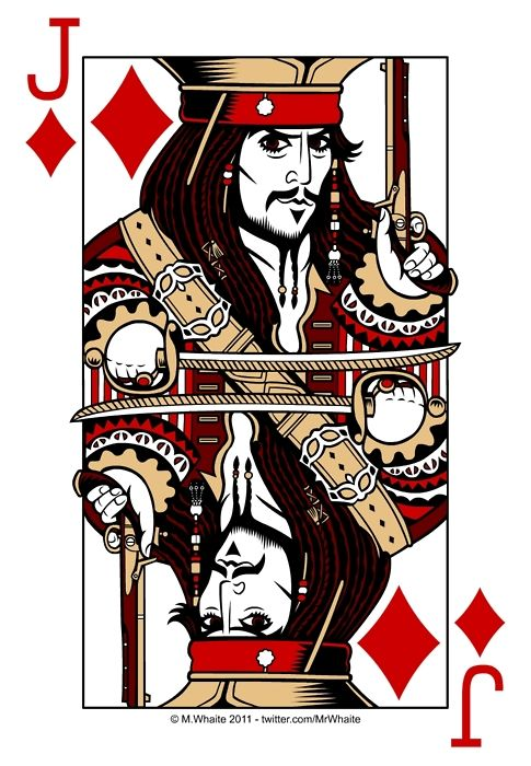 Jack of Diamonds!! Does this not look like Johnny Depp as Captain Jack Sparrow, or do I just see Johnny Depp everywhere???