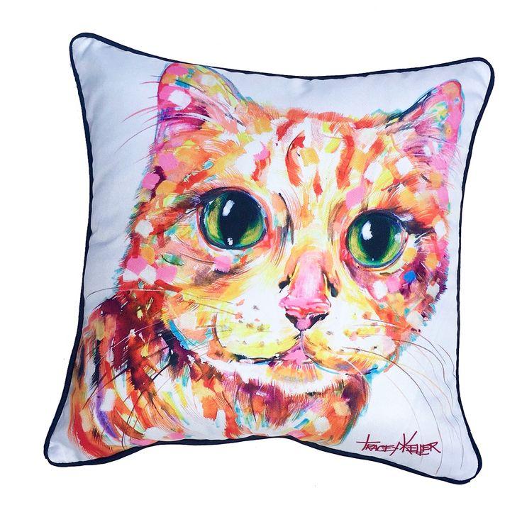 Orange Cat Indoor/Outdoor Cushion Cover - Tracey Keller