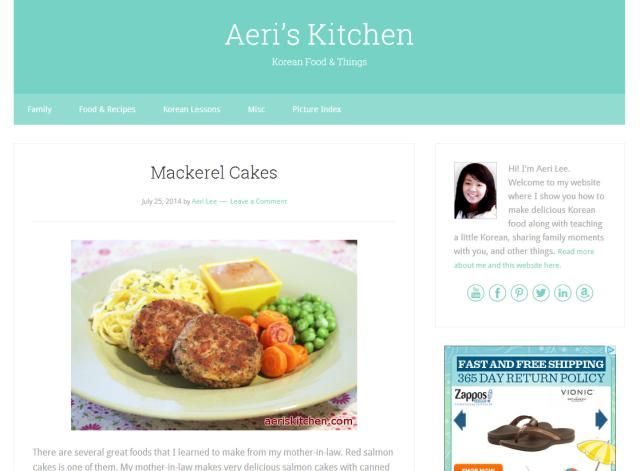 The Best Korean Food Blogs to Bookmark: Aeri's Kitchen