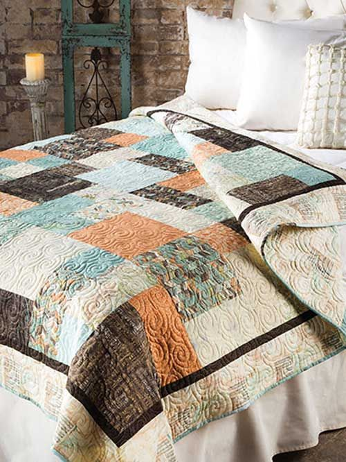 Fat Quarter Slide Quilt Pattern. This looks like a quick quilt pattern to sew.