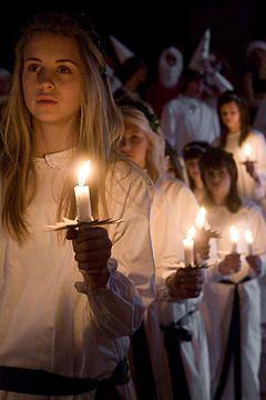 St. Lucy Dec 13: Lucia procession.jpg