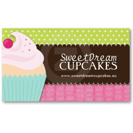44 best business cards images on pinterest cupcake logo design cute and whimsical cupcake bakery business cards reheart Image collections