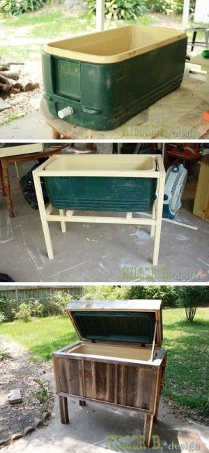 20 Creative Furniture Hacks :: AWESOME Ice chest makeover!!