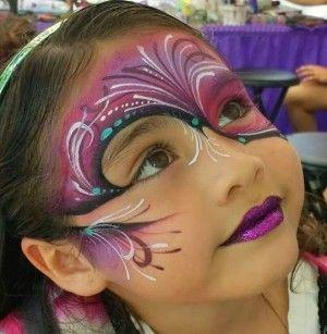 Kleurrijk masker, schmink