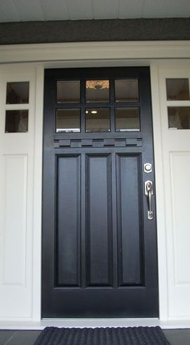 1000 ideas about craftsman style front doors on pinterest craftsman style craftsman front - Black craftsman front door ...