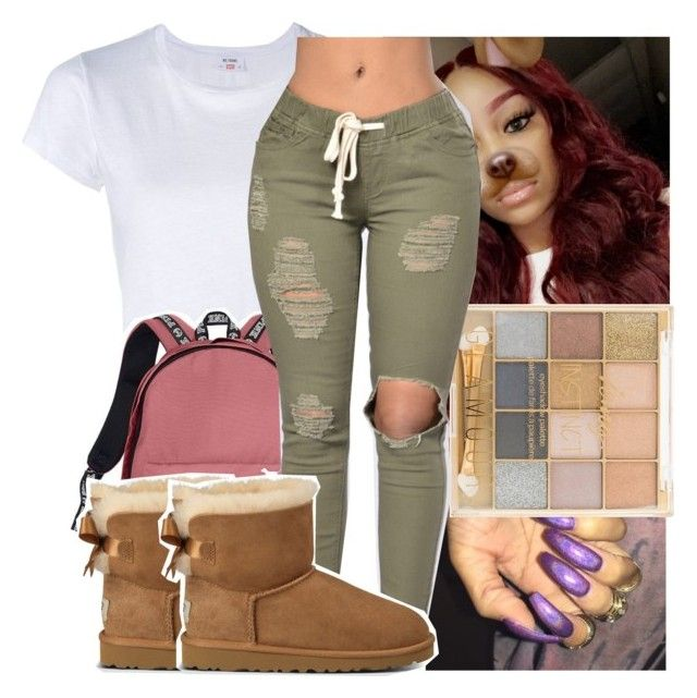 """"""""""" by kodakdej ❤ liked on Polyvore featuring RE/DONE, Victoria's Secret and UGG Australia"""