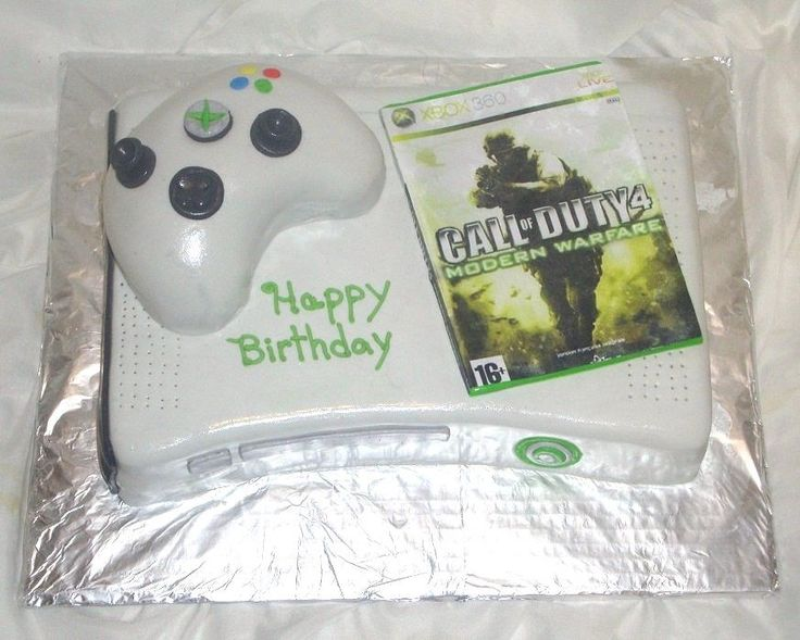 Xbox 360 Call of Duty Cake with rice krispie controller