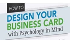 How to design your business card with psychology in mind