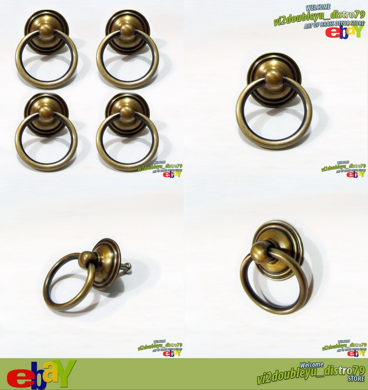 4 PCS Antique Vintage BRASS ROUND PULL Cabinet Door Brass KNOB Drawer, Lovely and GREAT GIFT for your Cabinet or home decor. #flyer #Knob #Drawer #Brass #Antique #Vintage #Home_decor