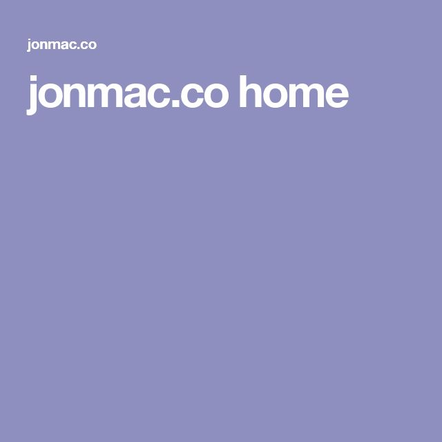 jonmac.co home