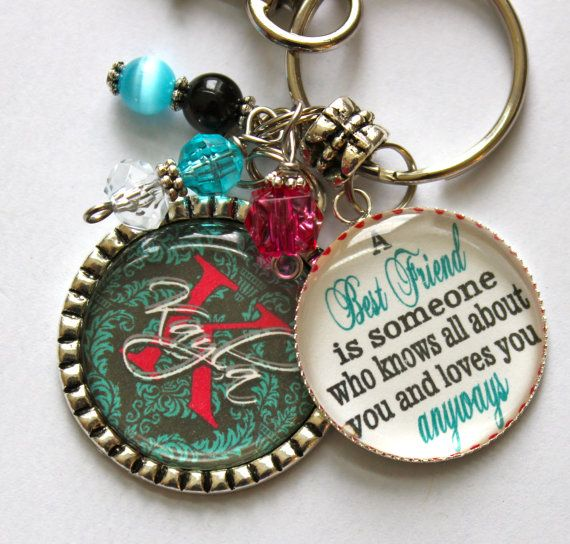 51 best birthday gift ideas images on pinterest birthday favors personalized best friend keychain gift with name by trendytz 2599 negle Images