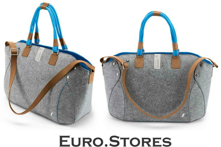 """Just love. BMW i Collection Urban Mega Shopper Bag 25"""" Modern with Tanned Leather Genuine"""