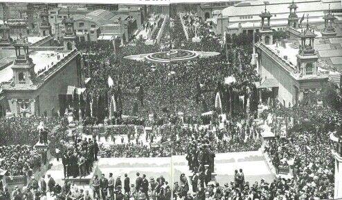Inauguració de la Exposició Universal de Barcelona al 1929.