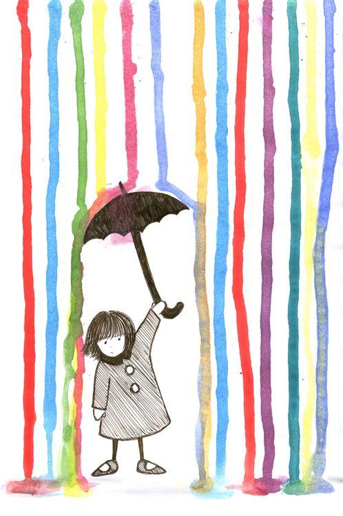 different umbrella art